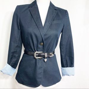 New York & Company Blue Blazer Sz 4           D119